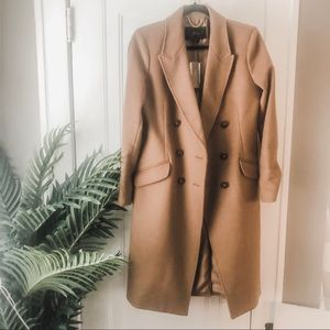 J.Crew Long Double Breasted Cashmere Wool Topcoat